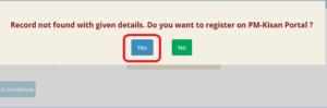 pm kisan yojana apply online stpe 3