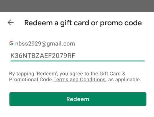Google Play Gift Card Redeem Steps