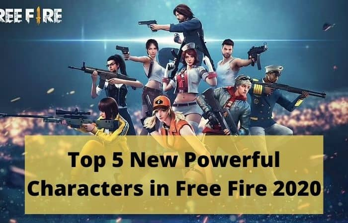 Top-5 Characters in Free FIre