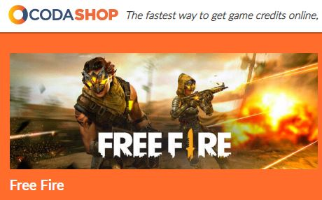 Free Fire Diamond Top Up using Coda Shop