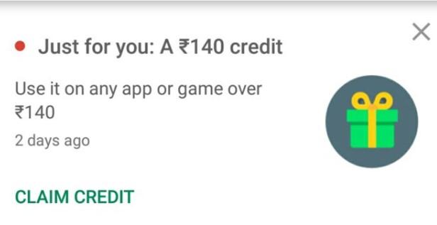 Rs.140 Google Play Redeem Codes