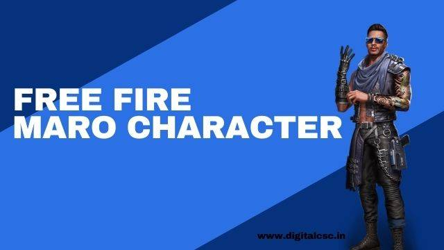 Maro Character in Free Fire